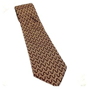 Vintage Gucci Brown Sailboat Tie